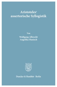 Cover Aristoteles' assertorische Syllogistik