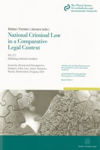 Cover National Criminal Law in a Comparative Legal Context. Vol. 3.1