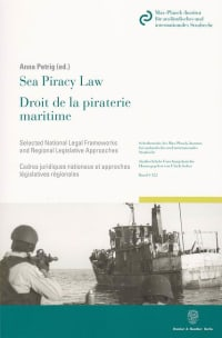 Cover Sea Piracy Law / Droit de la piraterie maritime