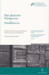 Cover Das dänische Strafgesetz / Straffeloven