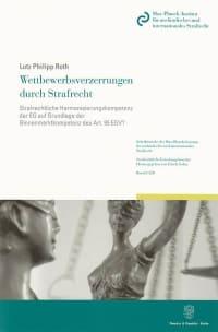 Cover Wettbewerbsverzerrungen durch Strafrecht