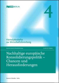 Cover Nachhaltige europäische Konsolidierungspolitik – Chancen und Herausforderungen