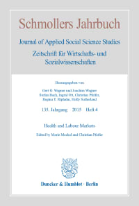 Cover Health and Labour Markets