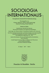 Cover Sociologia Internationalis (SOCINT)
