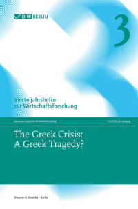 Cover The Greek Crisis: A Greek Tragedy?