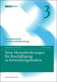 Cover Neue Herausforderungen für Beschäftigung in Entwicklungsländern