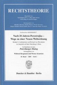 Cover Nach 20 Jahren Perestrojka – Wege zu einer Neuen Weltordnung
