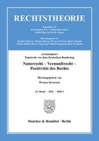 Cover Naturrecht – Vernunftrecht – Positivität des Rechts
