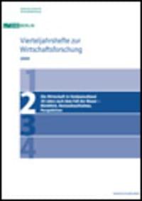 Cover Die Wirtschaft in Ostdeutschland 20 Jahre nach dem Fall der Mauer – Rückblick, Bestandsaufnahme, Perspektiven
