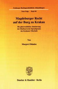 Cover Magdeburger Recht auf der Burg zu Krakau