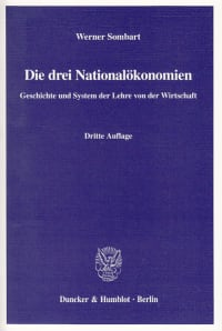 Cover Die drei Nationalökonomien