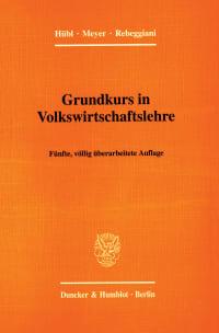 Cover Grundkurs in Volkswirtschaftslehre