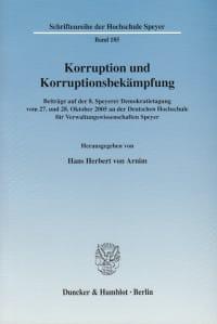 Cover Korruption und Korruptionsbekämpfung