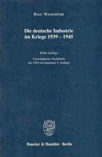 Cover Die deutsche Industrie im Kriege 1939–1945
