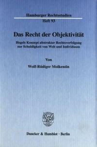 Cover Das Recht der Objektivität
