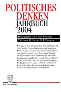Cover Politisches Denken. Jahrbuch 2004