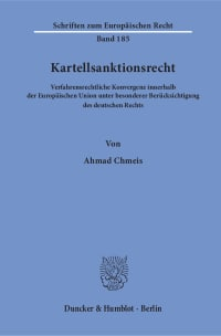 Cover Kartellsanktionsrecht