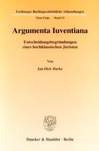 Cover Argumenta Iuventiana