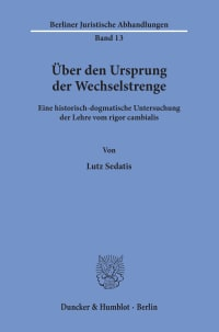 Cover Über den Ursprung der Wechselstrenge