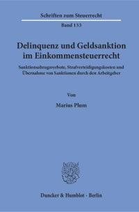 Cover Delinquenz und Geldsanktion im Einkommensteuerrecht