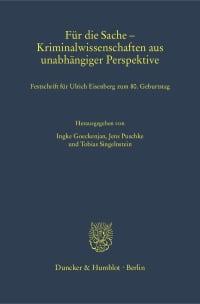 Cover Für die Sache – Kriminalwissenschaften aus unabhängiger Perspektive