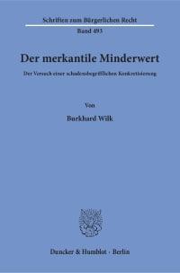 Cover Der merkantile Minderwert