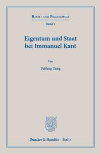 Cover Eigentum und Staat bei Immanuel Kant