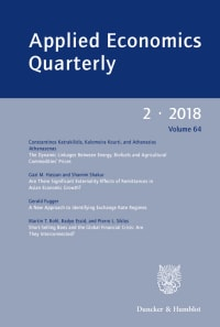 Cover Applied Economics Quarterly (AEQ)