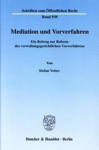Cover Mediation und Vorverfahren