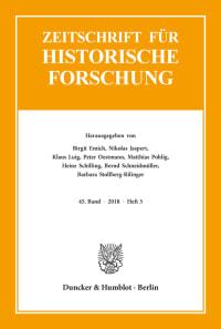 Cover Zeitschrift für Historische Forschung (ZHF)