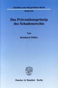 Cover Das Präventionsprinzip des Schadensrechts
