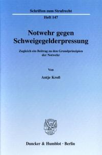 Cover Notwehr gegen Schweigegelderpressung