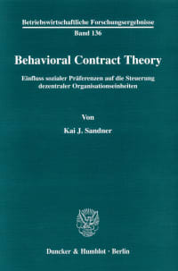 Cover Behavioral Contract Theory