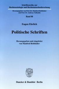 Cover Politische Schriften