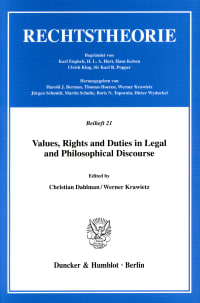Cover Values, Rights and Duties in Legal and Philosophical Discourse