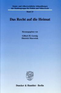 Cover Das Recht auf die Heimat
