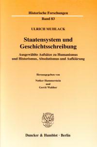 Cover Staatensystem und Geschichtsschreibung