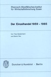 Cover Der Einzelhandel 1959 - 1985