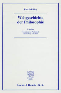 Cover Weltgeschichte der Philosophie