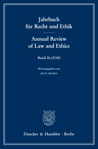 Cover Jahrbuch für Recht und Ethik / Annual Review of Law and Ethics