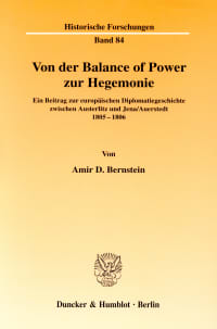 Cover Von der Balance of Power zur Hegemonie