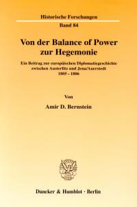 Cover Von der Balance of Power zur Hegemonie