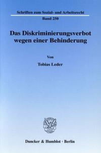 Cover Das Diskriminierungsverbot wegen einer Behinderung