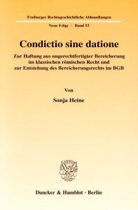 Cover Condictio sine datione