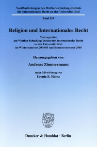 Cover Religion und Internationales Recht