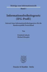 Cover Informationsfreiheitsgesetz (IFG-ProfE)