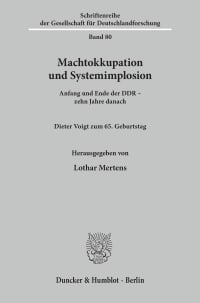 Cover Machtokkupation und Systemimplosion