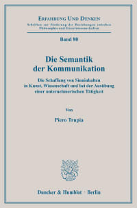 Cover Die Semantik der Kommunikation
