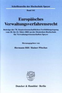 Cover Europäisches Verwaltungsverfahrensrecht