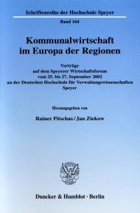 Cover Kommunalwirtschaft im Europa der Regionen